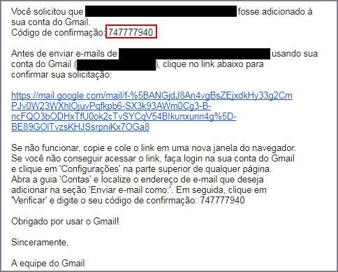 E-mail enviado pelo Gmail
